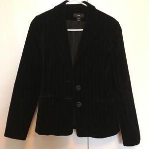 Velvet, pin striped blazer